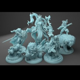 Forest Warriors - Set of 6...