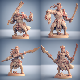 Oni Grunts - All 4! - Orc Warriors Squad