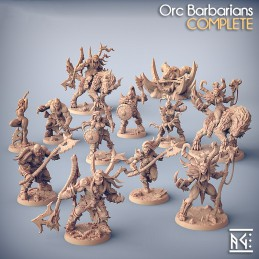Orc Barbarians - Set of 12...
