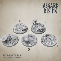 Bases - Forest - 30mm Round