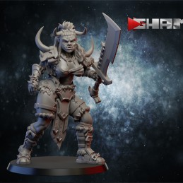 Orc female warrior with sword