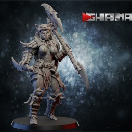 Orc Female Warrior with Axe