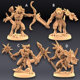 Goldmaw Lizards Set (Modular)