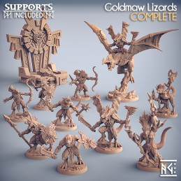 Goldmaw Lizards Complete -...