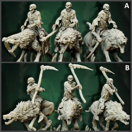 Zombie Direwolves (with Rider)