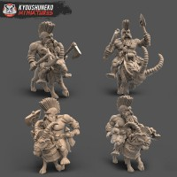 Mounted Dwarf Slayers and Roman Ogres - August 2020