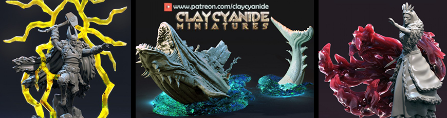 Epic models from Clay Cyanide Miniatures!